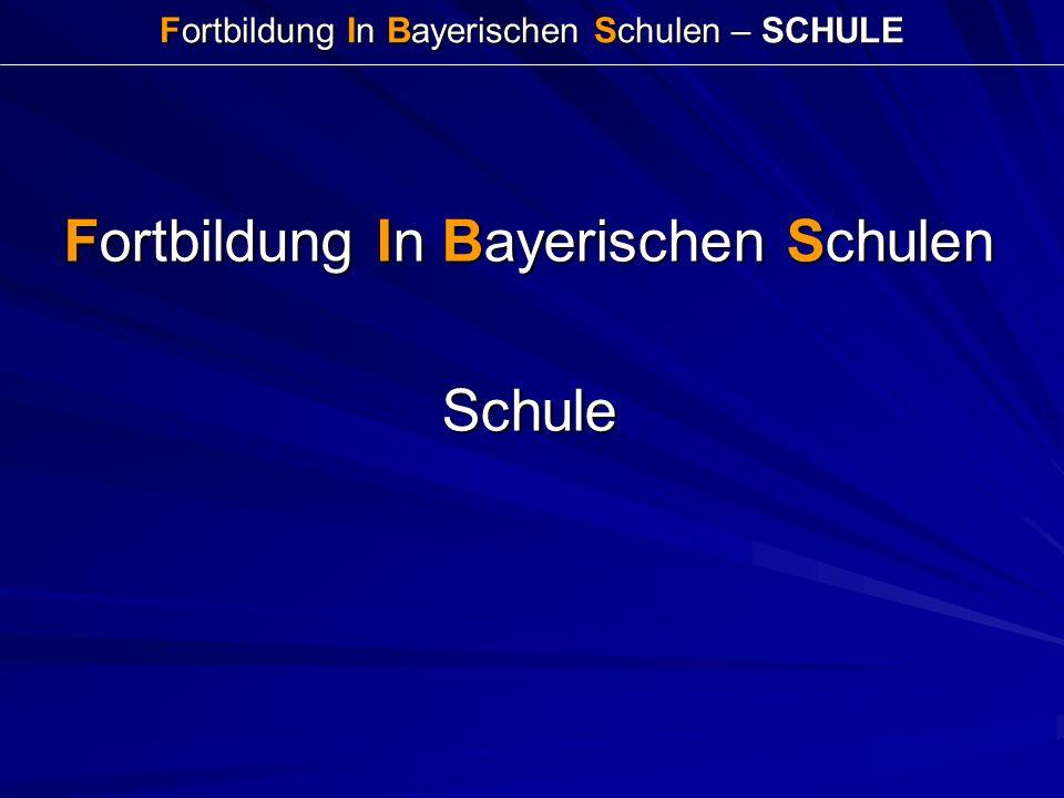 Fortbildung In Bayerischen Schulen – SCHULE Fortbildung In Bayerischen Schulen Schule