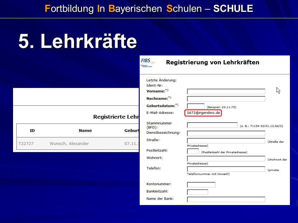 Fortbildung In Bayerischen Schulen – SCHULE 5. Lehrkräfte