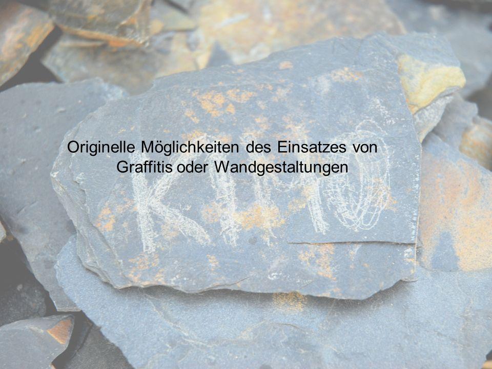 Originelle Möglichkeiten des Einsatzes von Graffitis oder Wandgestaltungen