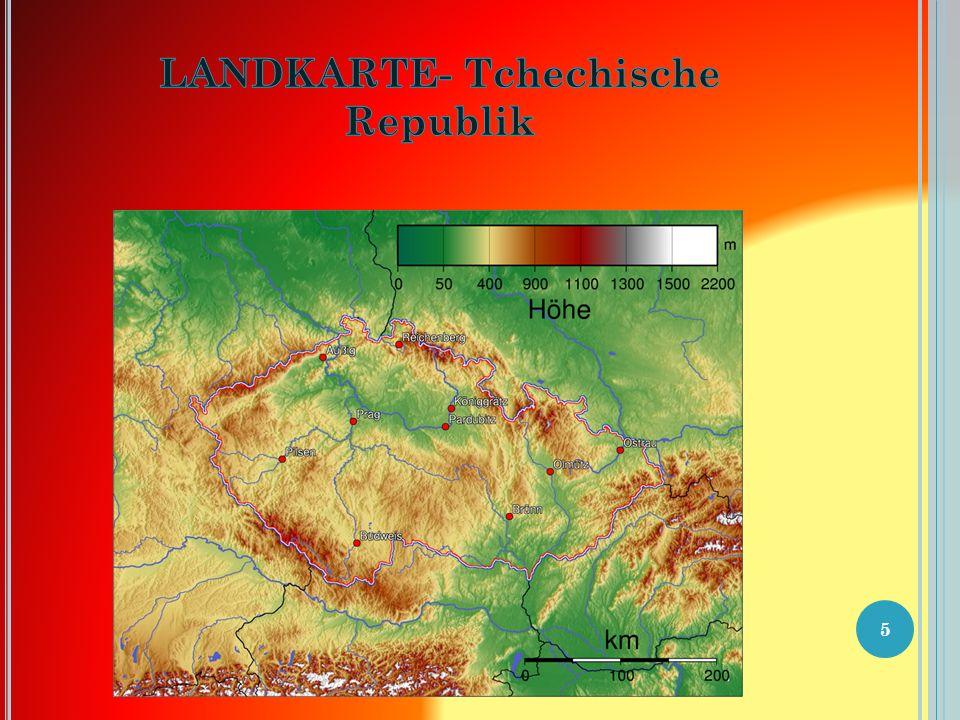 D IE L AGE DER T SCHECHISCHEN R EPUBLIK Tschechien (amtlich TschechischeRepublik, tschechisch Česká republika hören beziehungsweise Česko ) ist ein Staat in Mitteleuropa und grenzt an Deutschland (810 km) im Westen und Nordwesten, an Polen (762 km) im Norden, die Slowakei (252 km) im Osten und Österreich (466 km) im Süden.