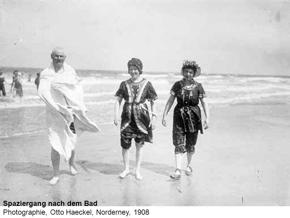 Spaziergang nach dem Bad Photographie, Otto Haeckel, Norderney, 1908