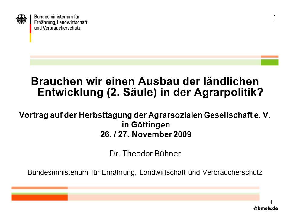 2 Mittel für die 2.Säule der GAP 2007 - 2013 in Deutschland (laufende Preise) 9,1 Mrd.