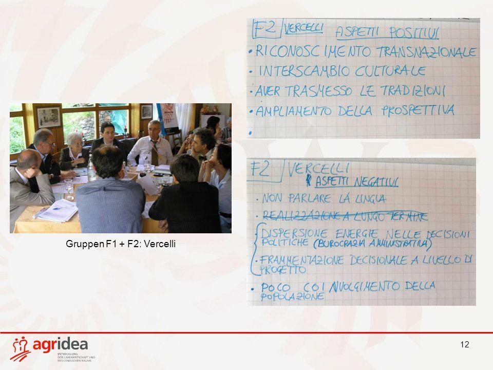 12 Gruppen F1 + F2: Vercelli
