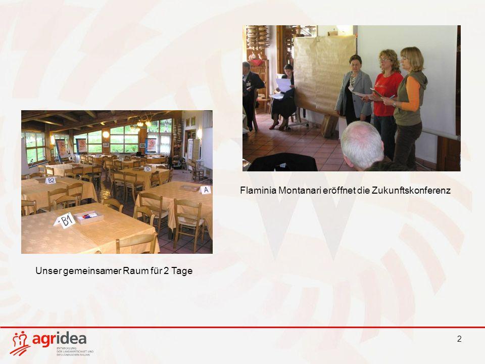 2 Flaminia Montanari eröffnet die Zukunftskonferenz Unser gemeinsamer Raum für 2 Tage