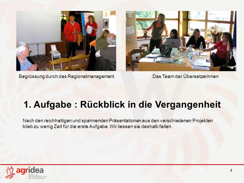 4 Begrüssung durch das RegionalmanagementDas Team der Übersetzerinnen 1.