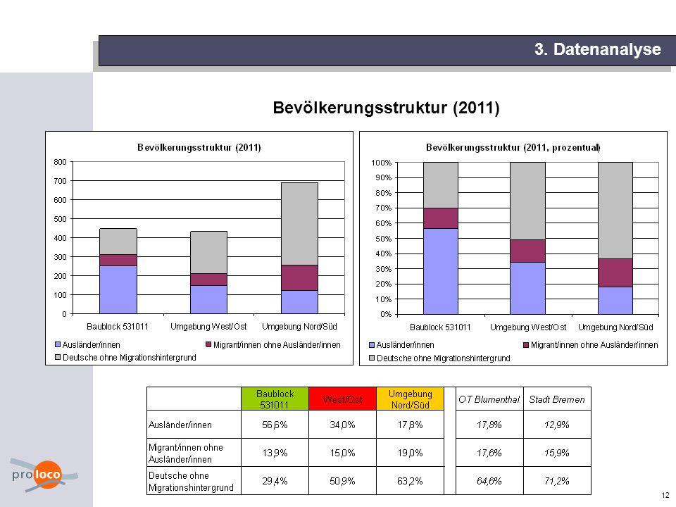 12 3. Datenanalyse Bevölkerungsstruktur (2011)