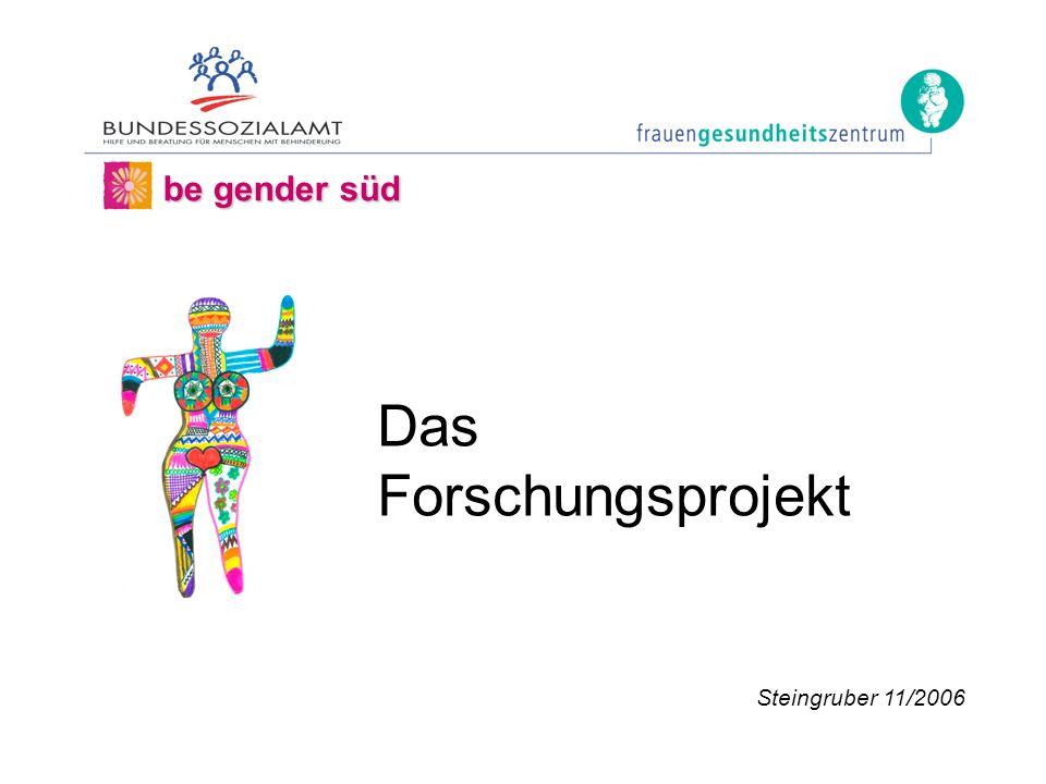 be gender süd Steingruber 11/2006 Das Forschungsprojekt