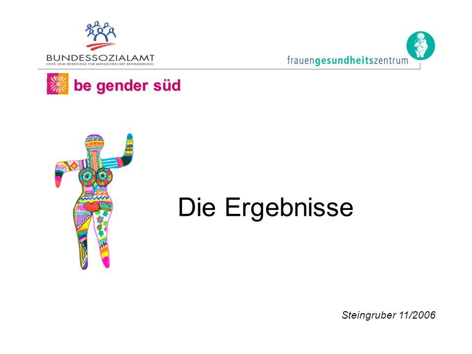 be gender süd Steingruber 11/2006 Die Ergebnisse