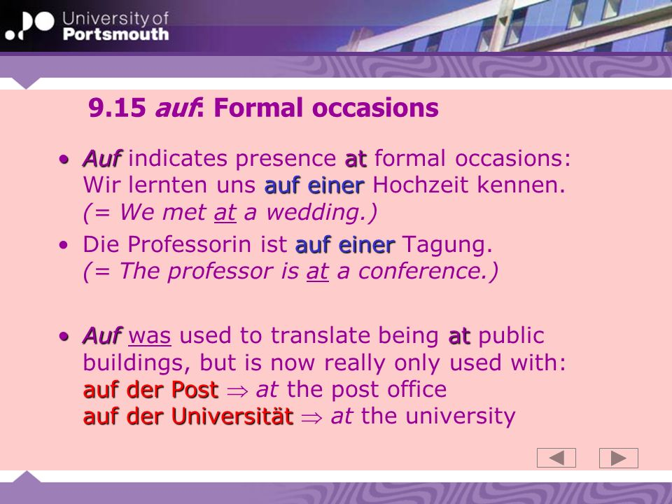 9.16 auf + Dative: verbs aufWhen a verb with auf is used in a figurative or abstract sense, it is more likely that it will take the accusative case.