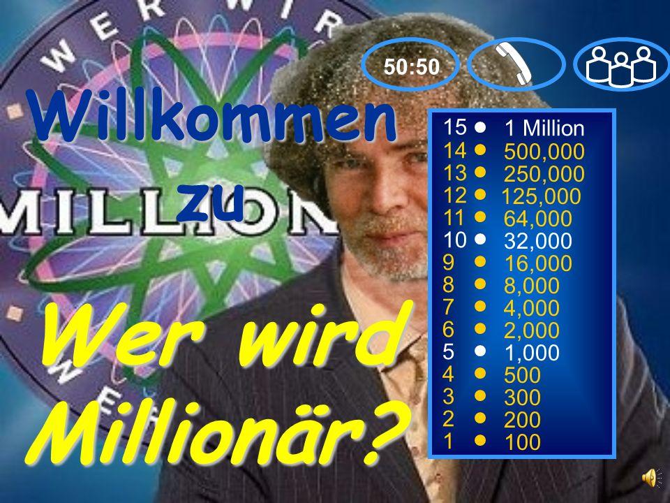 Willkommen zu Wer wird Millionär.