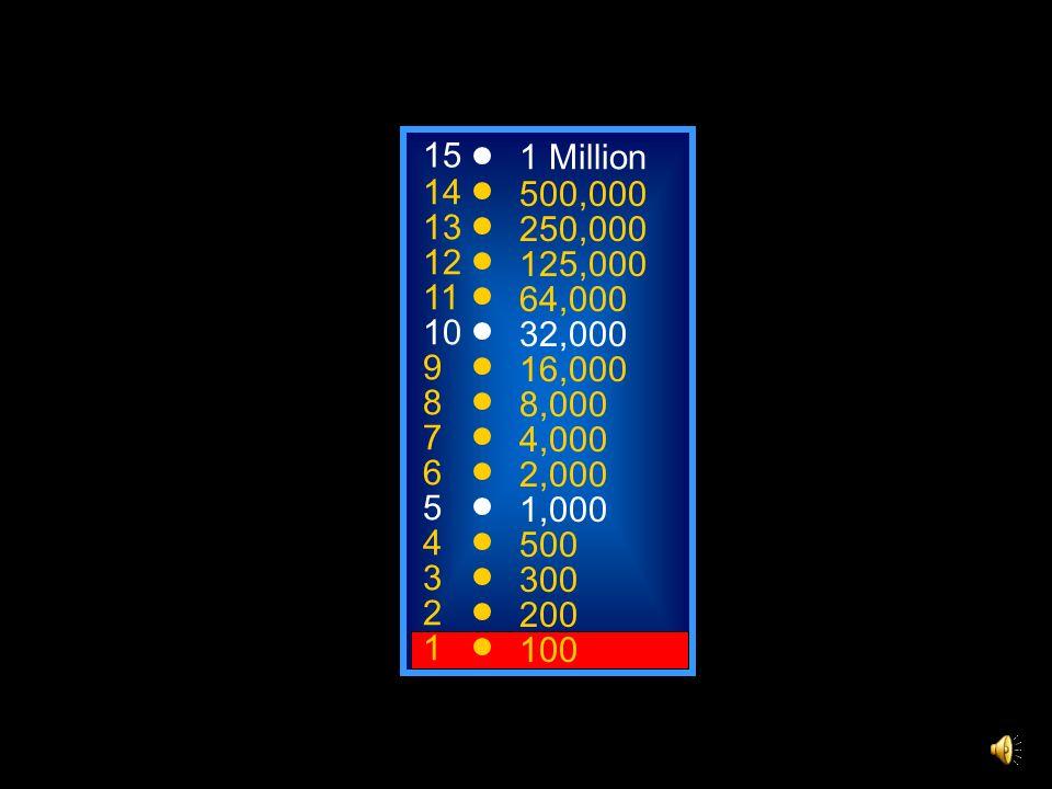 A: Powerpoint C: Photoshop B: Word D: Excel 50:50 15 14 13 12 11 10 9 8 7 6 5 4 3 2 1 1 Million 500,000 250,000 125,000 64,000 32,000 16,000 8,000 4,000 2,000 1,000 500 300 200 100 Welches der folgenden Programme ist kein Microsoft-Programm?