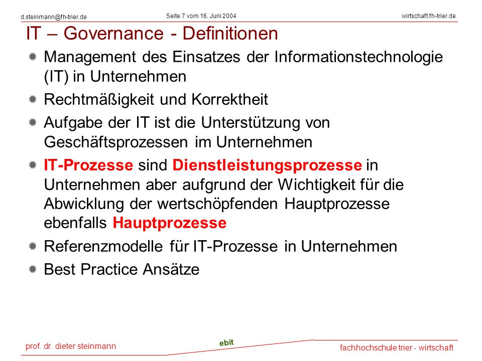 prof.dr. dieter steinmann Seite 18 vom 16.
