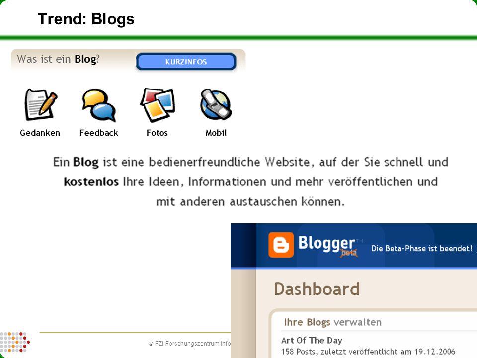 10 FZI Forschungszentrum Informatik (fzi.de) | Forschungsbereich IPE: Information, Process, Engineering Trend: Blogs