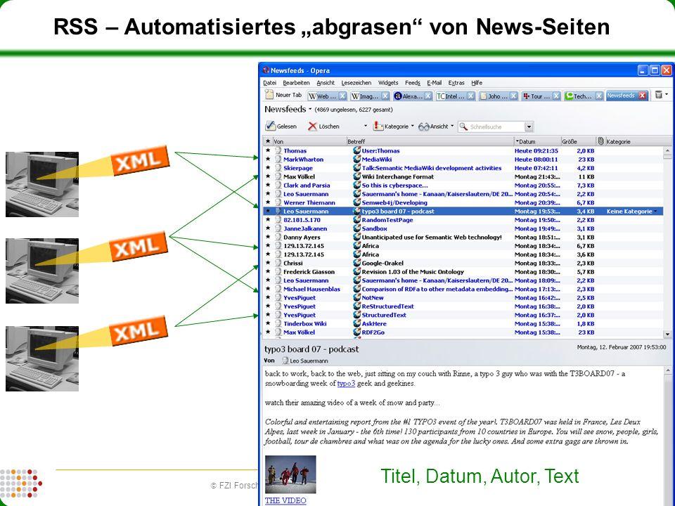 13 FZI Forschungszentrum Informatik (fzi.de) | Forschungsbereich IPE: Information, Process, Engineering RSS – Automatisiertes abgrasen von News-Seiten