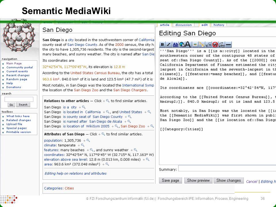 36 FZI Forschungszentrum Informatik (fzi.de) | Forschungsbereich IPE: Information, Process, Engineering Semantic MediaWiki