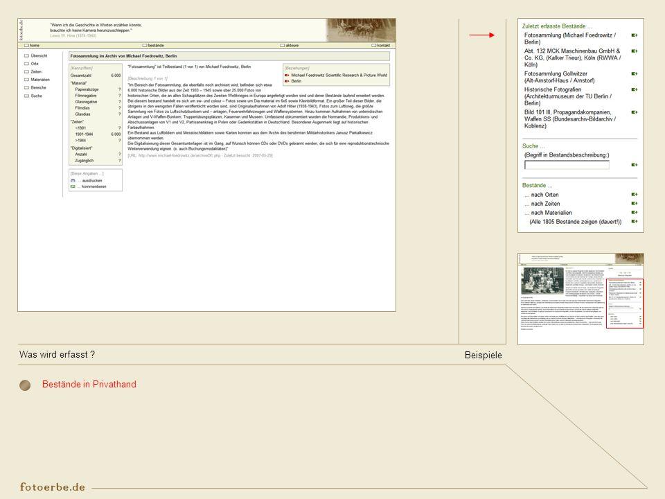 Bestände in Privathand Beispiele