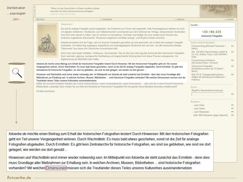 Was wird erfasst ? Bestände in Privathand Bestände in (Wirtschafts- und anderen) Archiven Beispiele