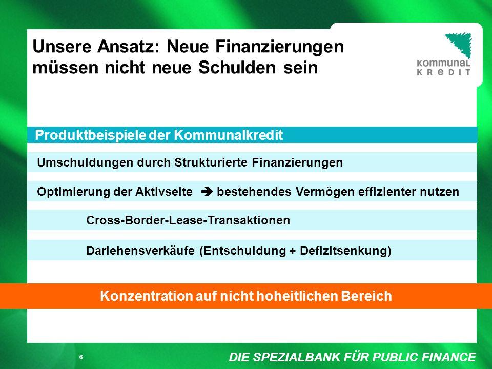 DIE SPEZIALBANK FÜR PUBLIC FINANCE Füllung weiß/ keine Füllung 7 Nr.