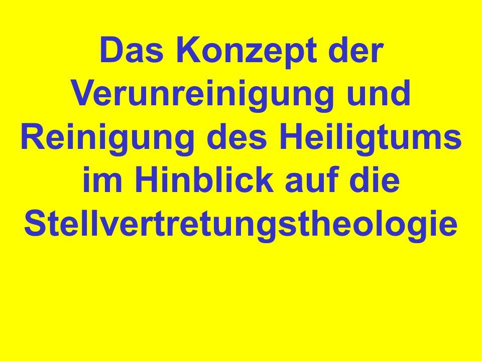 1.Welche Bibelstellen kennt ihr, die uns sagen, daß die Blutübertragung auf das Heiligtum eine symbolische Verunreinigung bedeutet bzw.