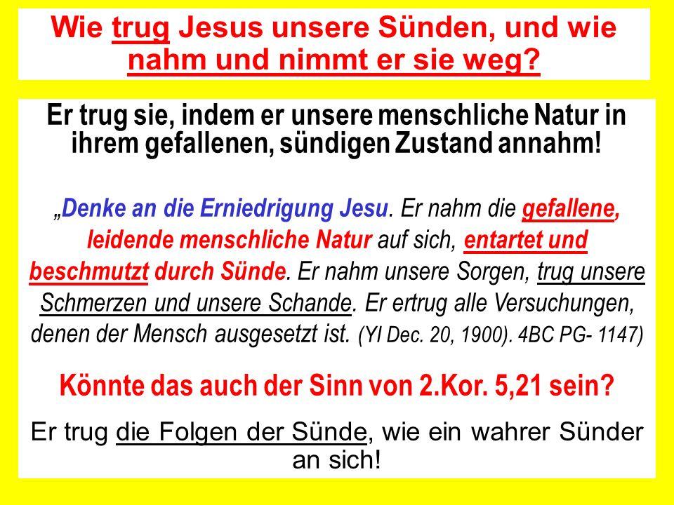 Sündenvergebung hat nichts mit Sündenübertragung durch Sündenbekenntnis auf das Heiligtum bzw.