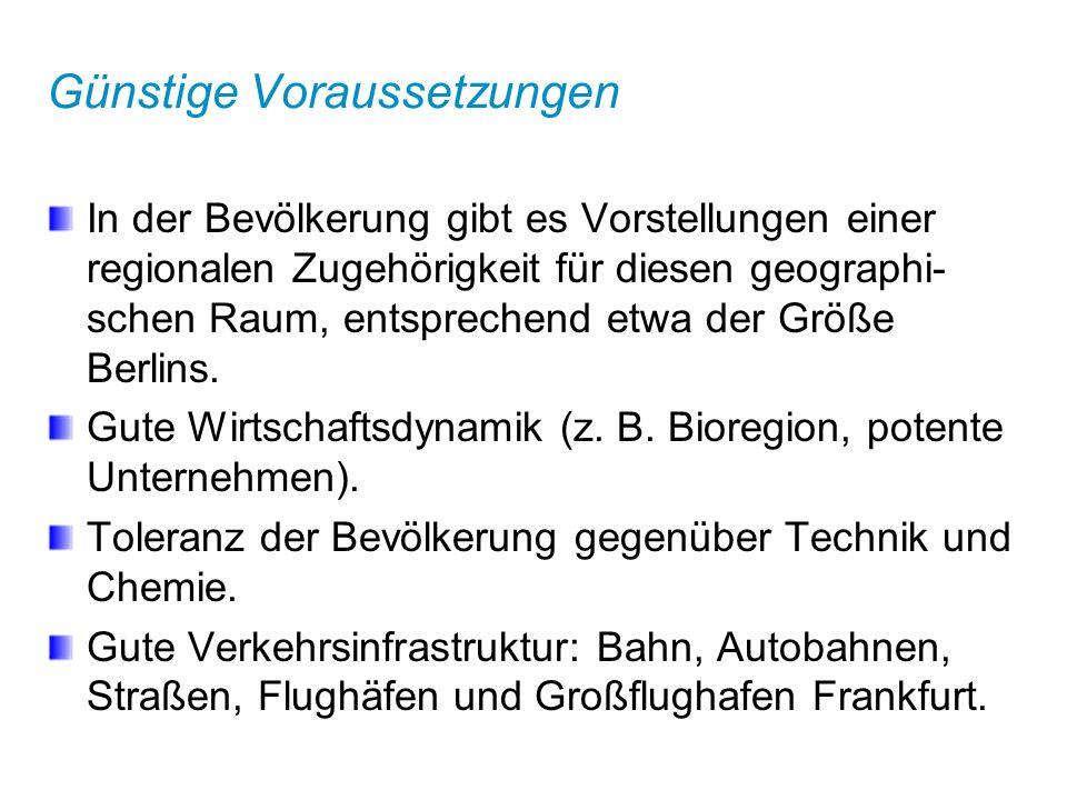 Bildung der Metropolregion Es kommt immer auf die Person an: Die Gründung Metropolregion Rhein-Neckar ist wesentlich betrieben und befördert worden durch Initiativen und politische Verhandlungen von Eggert Voscherau, stellvertretender Vorstands- vorsitzender der BASF AG Ludwigshafen.