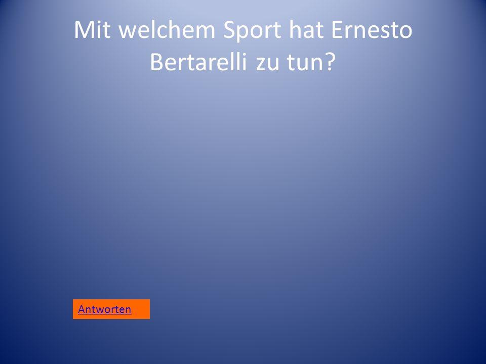 Mit welchem Sport hat Ernesto Bertarelli zu tun? Antworten
