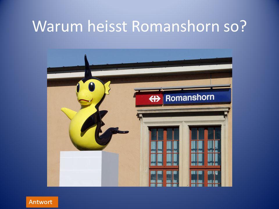 Warum heisst Romanshorn so? Antwort