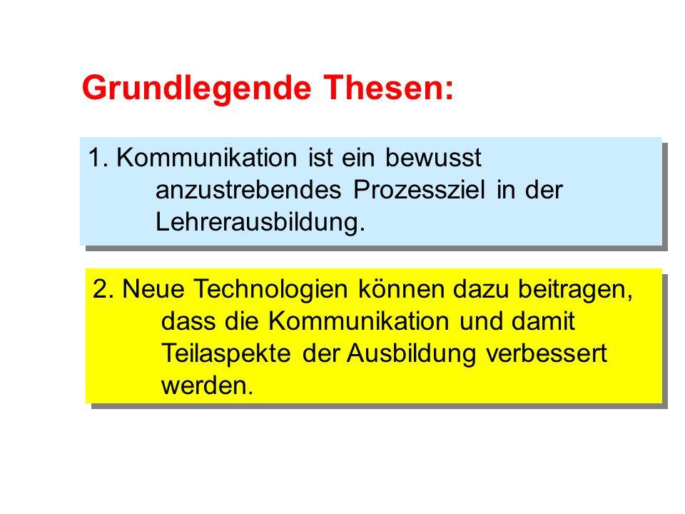 Internet-gestützte Kommunikation in der Lehramtsausbildung Ein Erfahrungsbericht Internet-gestützte Kommunikation in der Lehramtsausbildung Ein Erfahrungsbericht Hans-Georg Weigand, Würzburg