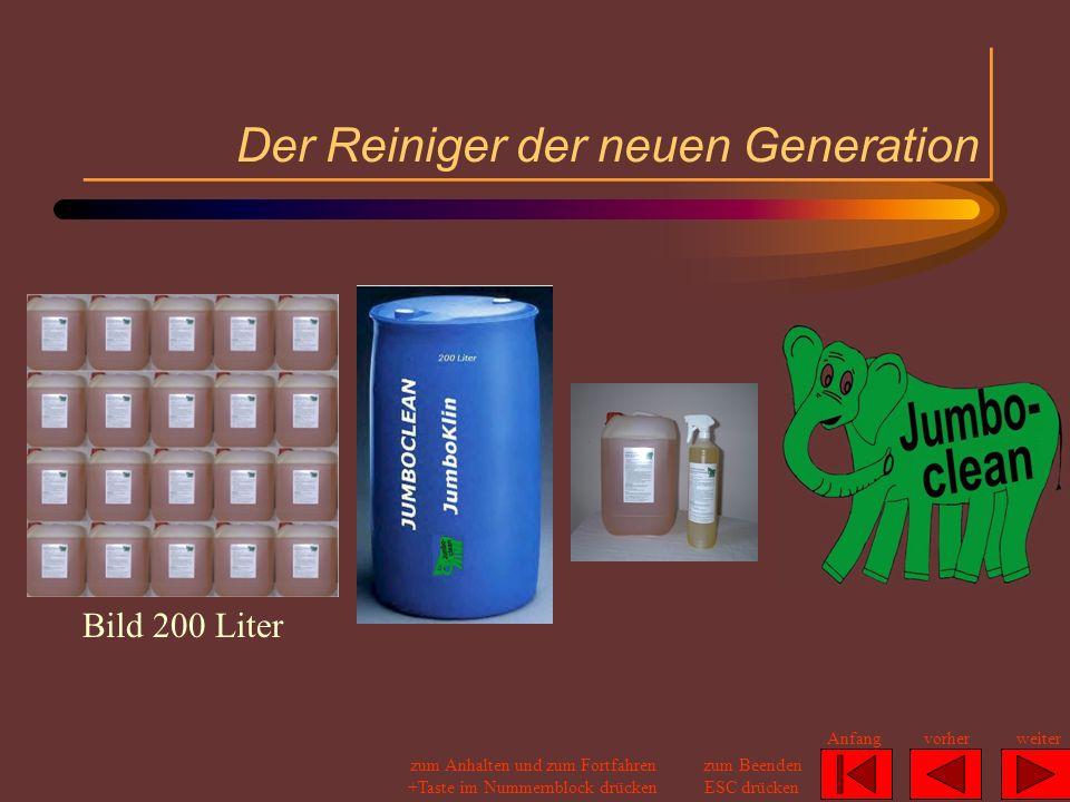 Jumboclean 4 Flaschen zu je 1 Liter verpackt in einem Karton zum Preis von 22,00 für die Packung (ergibt 5,50 je Liter) Jumboclean 1 Kanister mit dem