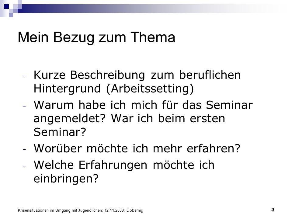 Krisensituationen im Umgang mit Jugendlichen; 12.11.2008; Dobernig 44 Traumaspezifische Psychotherapie