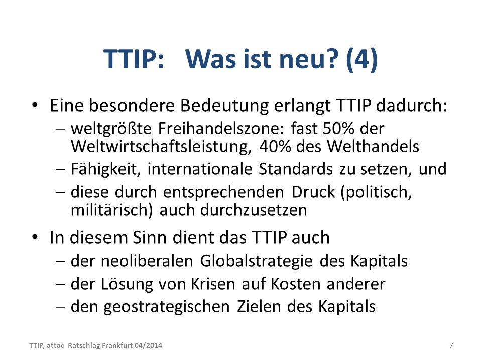 TTIP: Was wird verhandelt.