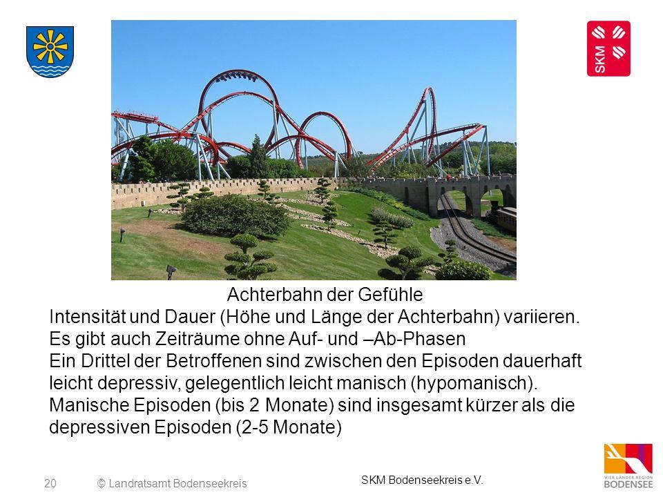 20© Landratsamt Bodenseekreis SKM Bodenseekreis e.V. Achterbahn der Gefühle Intensität und Dauer (Höhe und Länge der Achterbahn) variieren. Es gibt au
