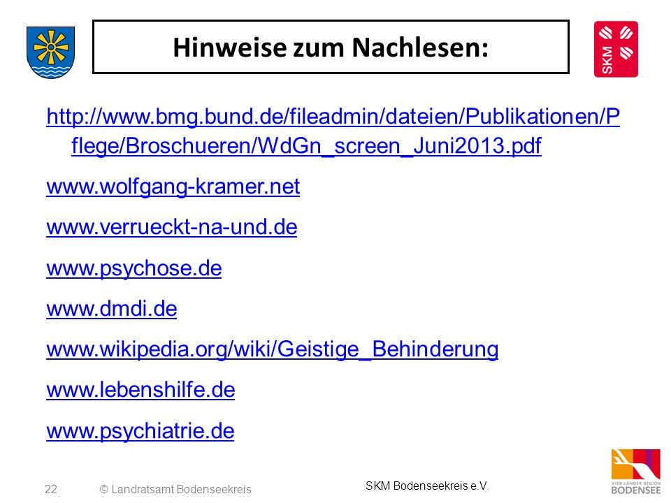 22 Hinweise zum Nachlesen: http://www.bmg.bund.de/fileadmin/dateien/Publikationen/P flege/Broschueren/WdGn_screen_Juni2013.pdf www.wolfgang-kramer.net
