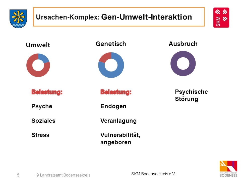 5 Ursachen-Komplex: Gen-Umwelt-Interaktion © Landratsamt Bodenseekreis SKM Bodenseekreis e.V. Psychische Störung