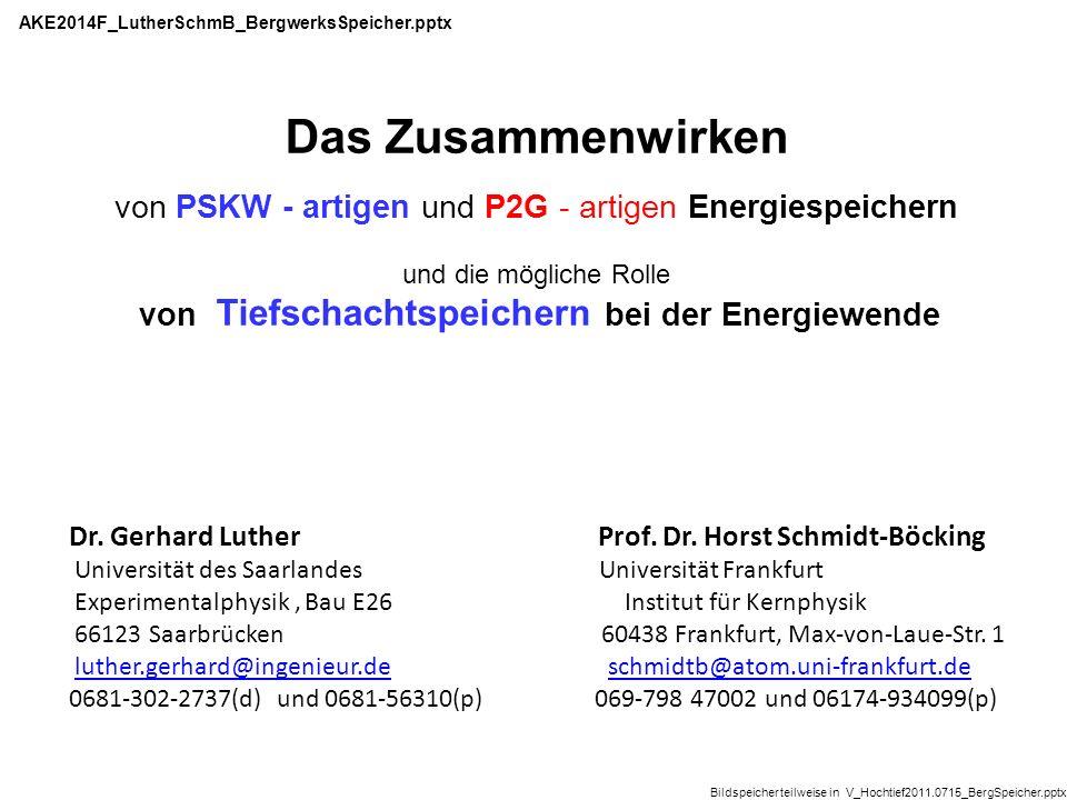 Review, die den Stand 1984 zusammenfasst: http://www.osti.gov/bridge/servlets/purl/6517 343/6517343.pdf Speicher: AllenDohertyKannenber1984_UndergroundPSKW_78p.pdf 2.21