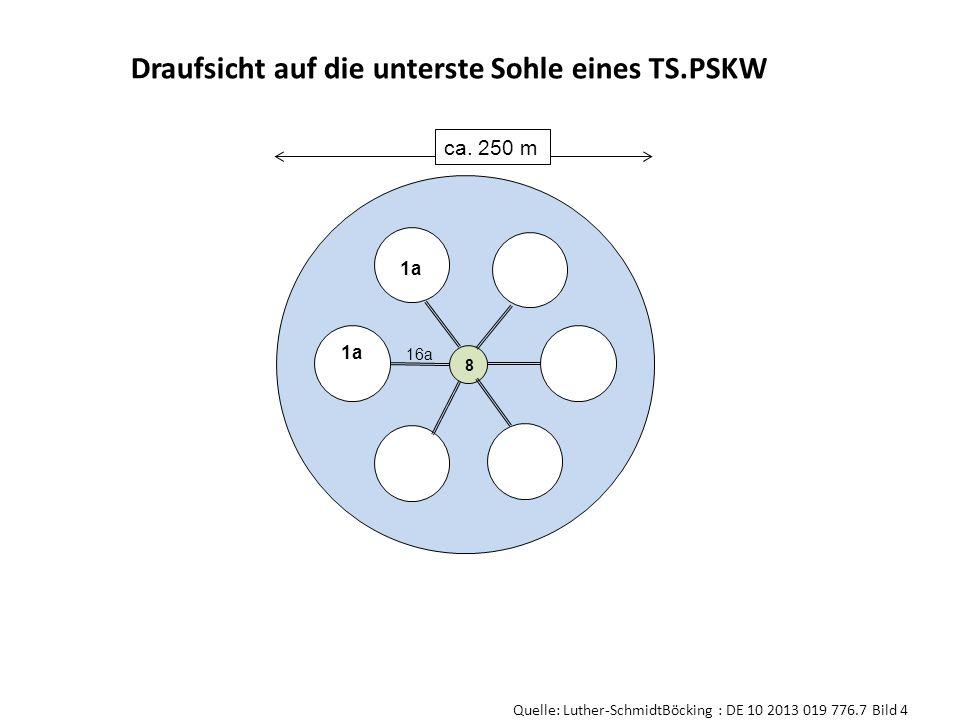 8 ca. 250 m 1a 16a Draufsicht auf die unterste Sohle eines TS.PSKW Quelle: Luther-SchmidtBöcking : DE 10 2013 019 776.7 Bild 4