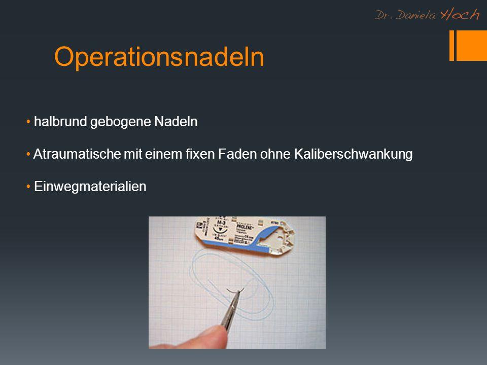 Operationsnadeln halbrund gebogene Nadeln Atraumatische mit einem fixen Faden ohne Kaliberschwankung Einwegmaterialien