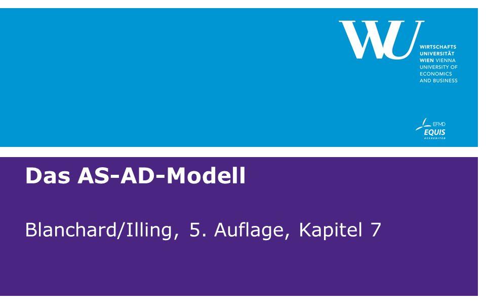 Das AS-AD-Modell Blanchard/Illing, 5. Auflage, Kapitel 7