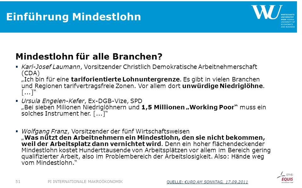 Einführung Mindestlohn Mindestlohn für alle Branchen? Karl-Josef Laumann, Vorsitzender Christlich Demokratische Arbeitnehmerschaft (CDA) Ich bin für e