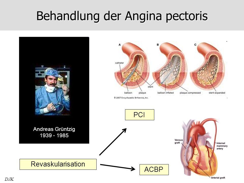 DJK Behandlung der Angina pectoris Andreas Grüntzig 1939 - 1985 Revaskularisation PCI ACBP