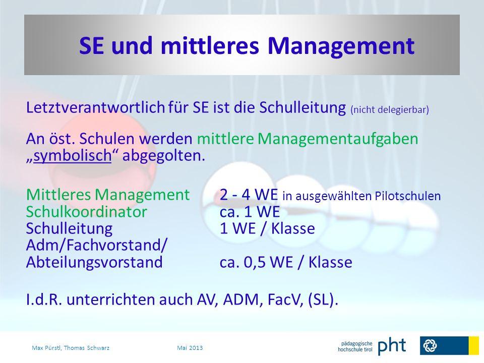 In Österreich wird SE maßgeblich von Lehrpersonen getragen, die hauptsächlich unterrichten.