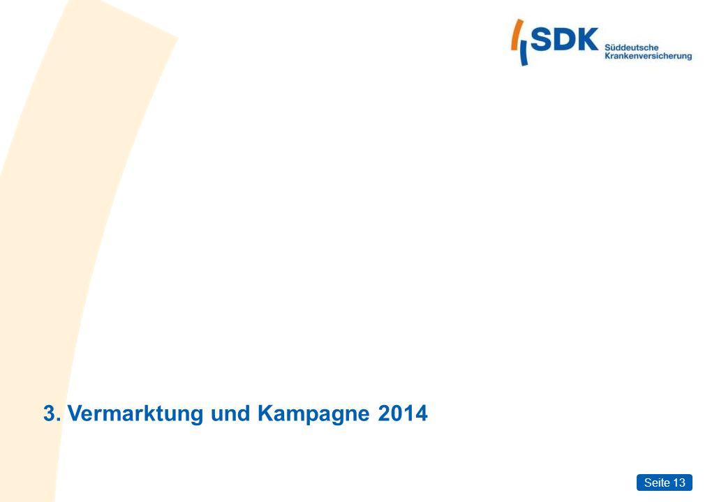 Seite 13 3. Vermarktung und Kampagne 2014