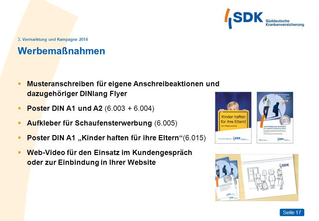 Seite 17 Werbemaßnahmen Musteranschreiben für eigene Anschreibeaktionen und dazugehöriger DINlang Flyer Poster DIN A1 und A2 (6.003 + 6.004) Aufkleber
