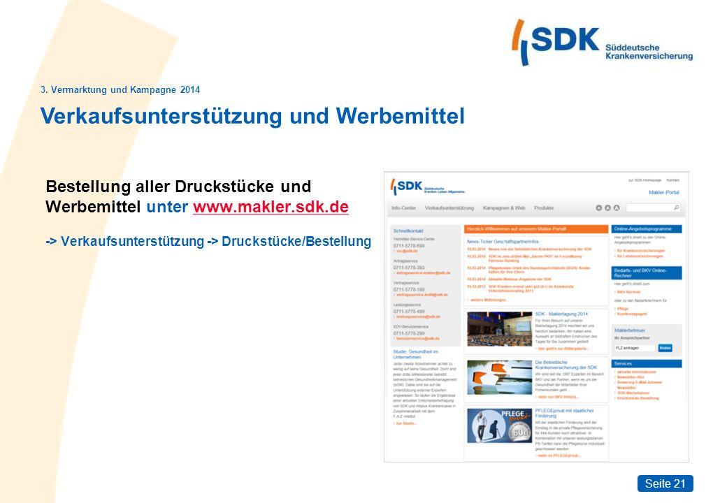 Seite 21 Bestellung aller Druckstücke und Werbemittel unter www.makler.sdk.dewww.makler.sdk.de -> Verkaufsunterstützung -> Druckstücke/Bestellung Verkaufsunterstützung und Werbemittel 3.