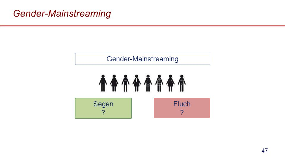 Gender-Mainstreaming Segen ? Gender-Mainstreaming Fluch ? 47
