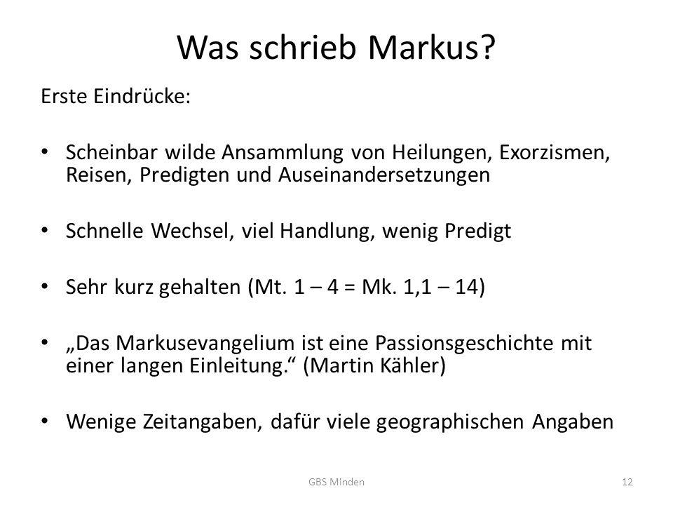 Was schrieb Markus.