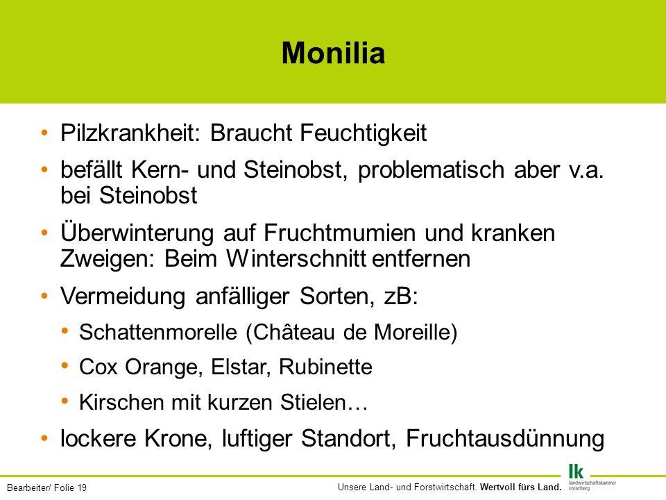 Bearbeiter/ Folie 19 Unsere Land- und Forstwirtschaft.