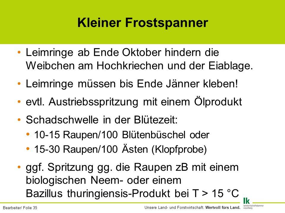 Bearbeiter/ Folie 35 Unsere Land- und Forstwirtschaft.