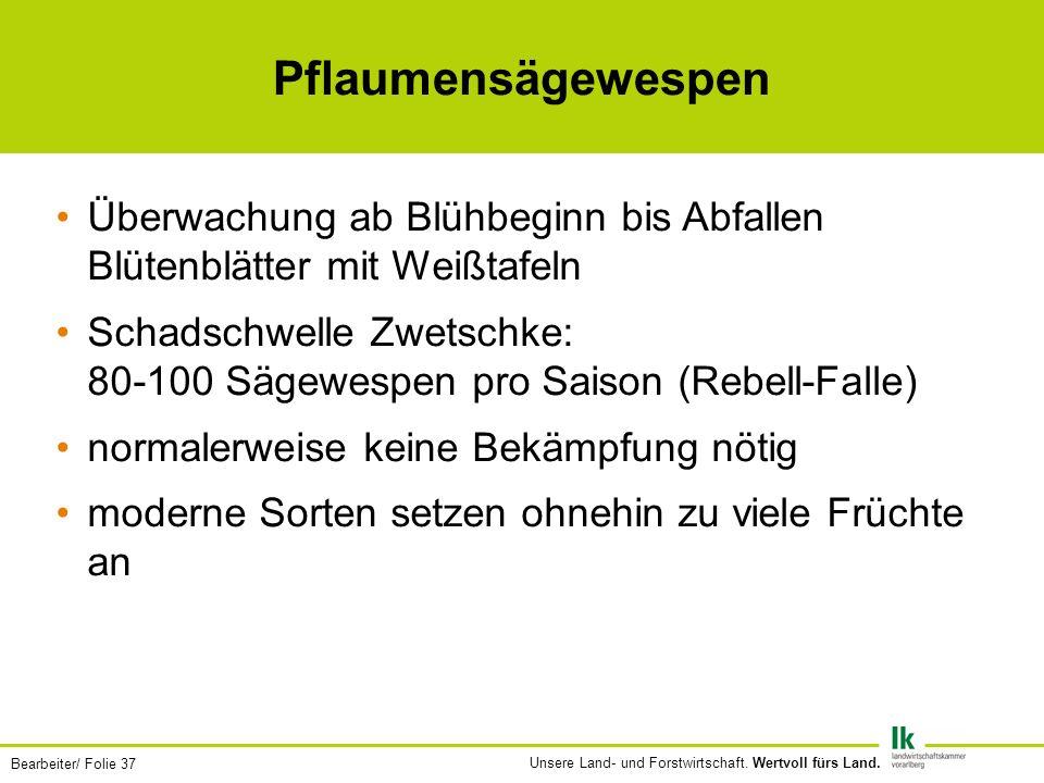 Bearbeiter/ Folie 37 Unsere Land- und Forstwirtschaft.