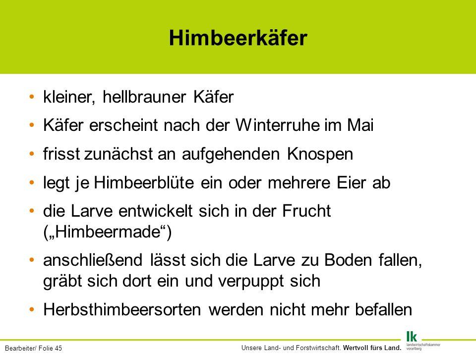 Bearbeiter/ Folie 45 Unsere Land- und Forstwirtschaft.